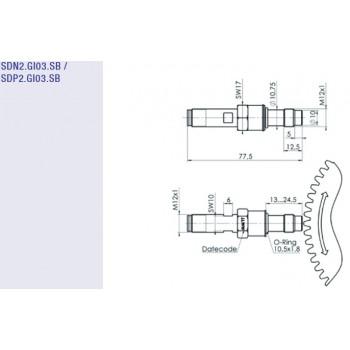 SDP15 - SPN/P2 - M12 High Pressure