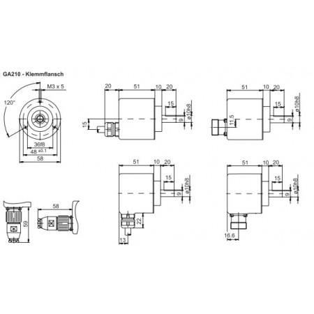 GA210 Absoluut singleturn parallel
