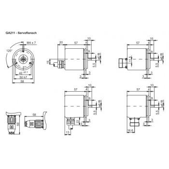 GA211 Absoluut singleturn parallel