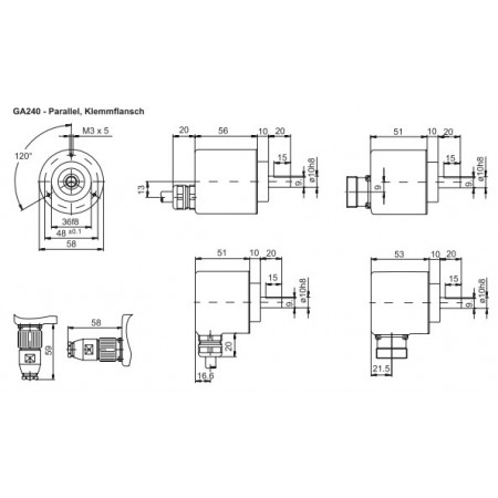 GA240 Absoluut singleturn parallel