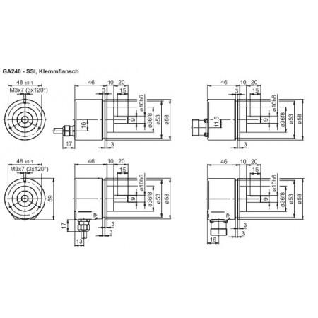 GA240 Absoluut singleturn SSI