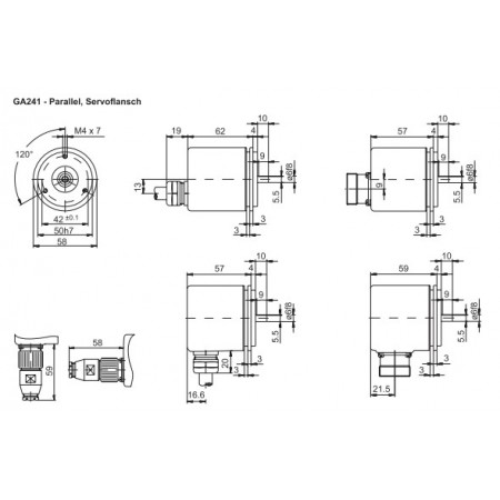GA241 Absoluut singleturn parallel