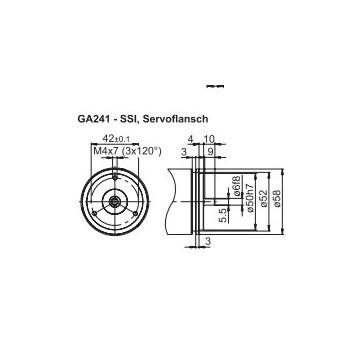 GA241 Absoluut singleturn SSI